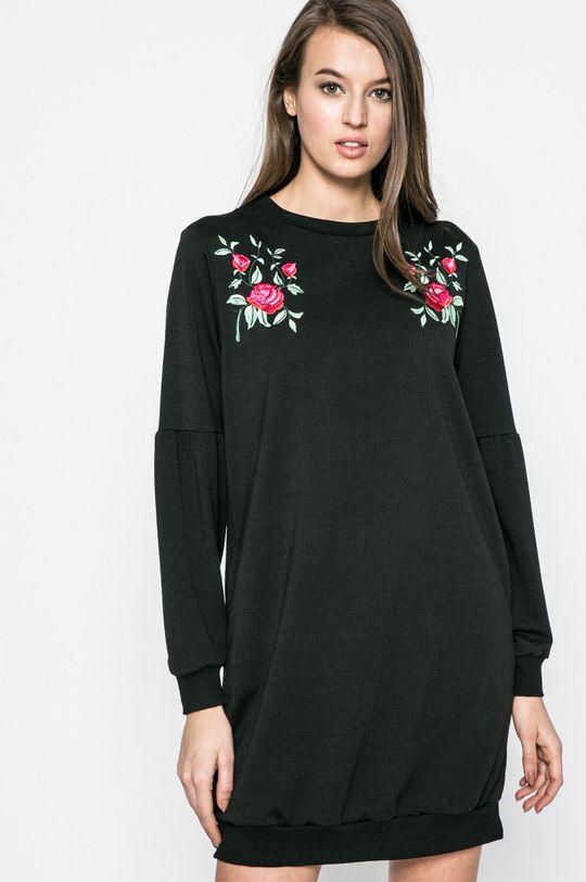 čierna Answear - Šaty Blossom Mood Dámsky