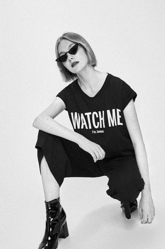 čierna Answear - Nohavice Watch Me