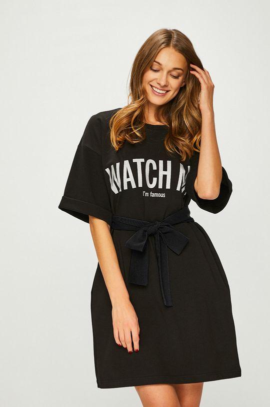 čierna Answear - Šaty Watch me Dámsky