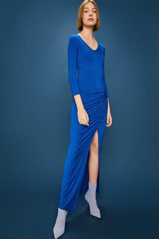 Answear - Šaty Watch Me modrá
