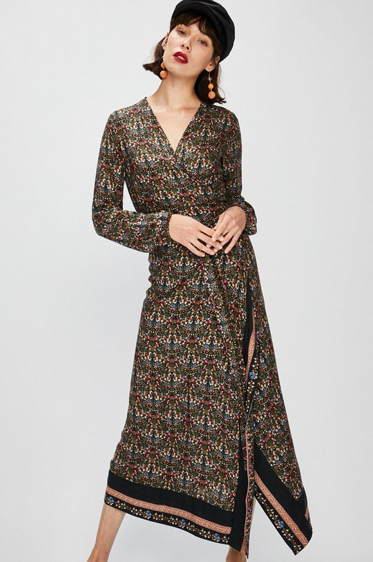 viacfarebná Answear - Šaty Falling in autumn Dámsky