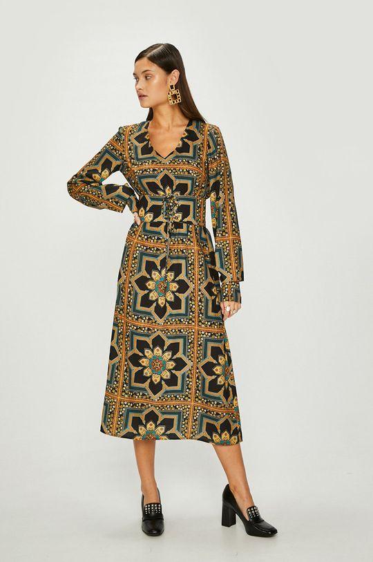 Answear - Šaty Heritage viacfarebná