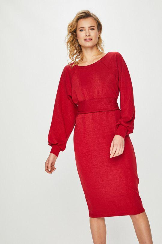 czerwony Answear Lab - Sukienka Damski