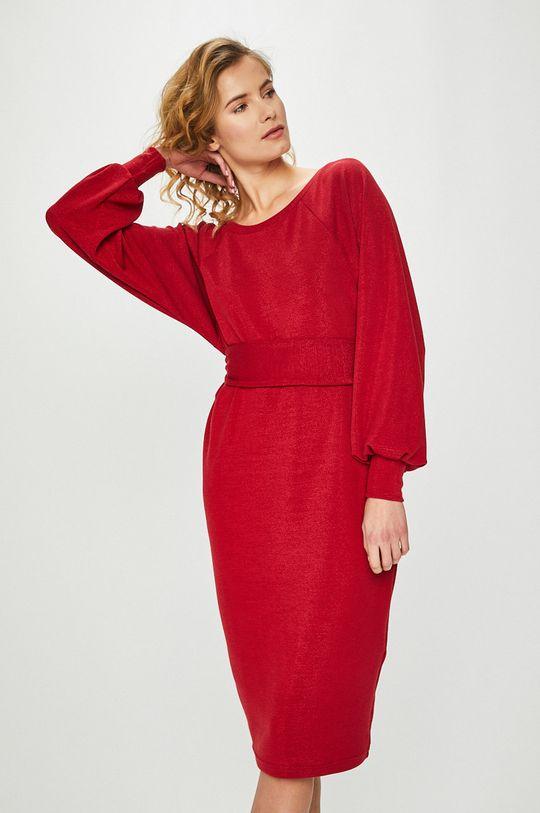 czerwony Answear Lab - Sukienka