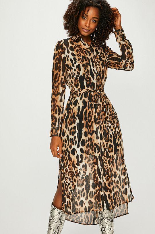 viacfarebná Answear - Šaty Animal Me Dámsky