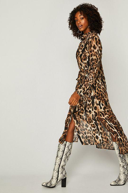 viacfarebná Answear - Šaty Animal Me