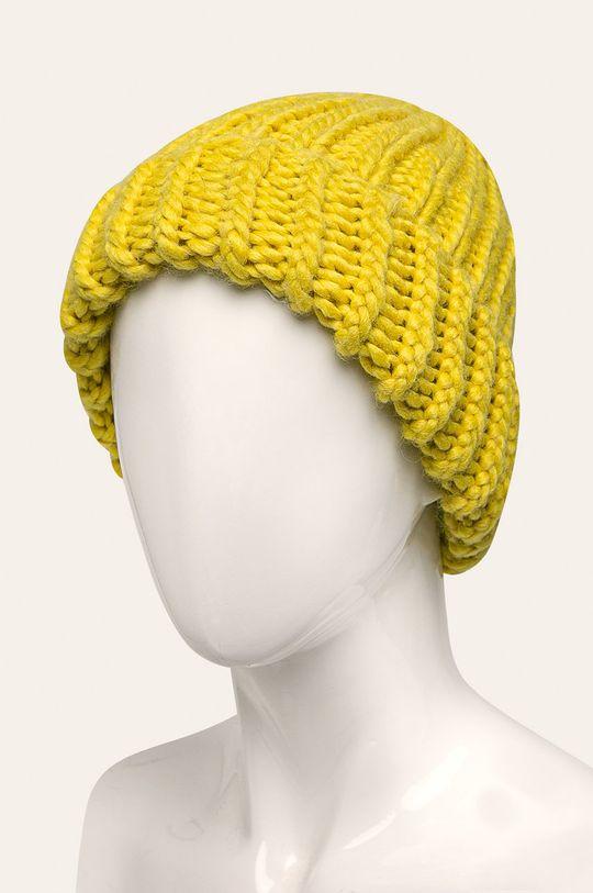 Answear - Čepice žlutě zelená