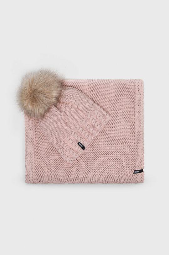 roz pastelat Answear - Palarie si fular De femei
