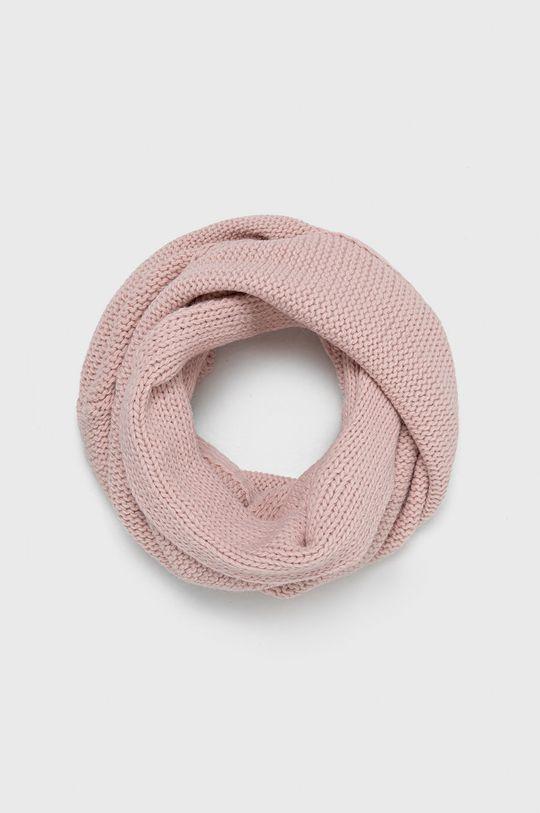 pastelowy różowy Answear Lab - Czapka i szalik