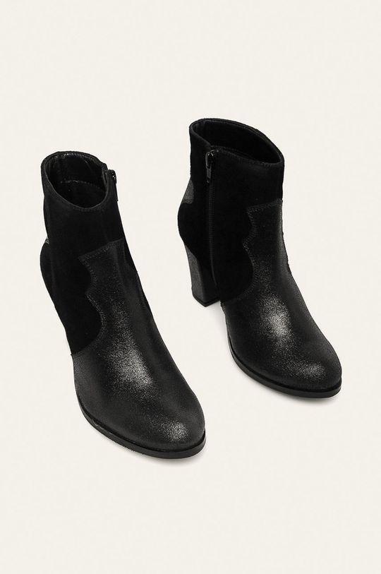 Answear - Cizme de piele negru