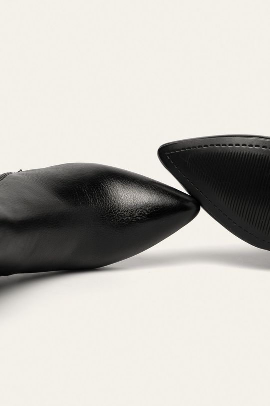 negru Answear - Cizme de piele