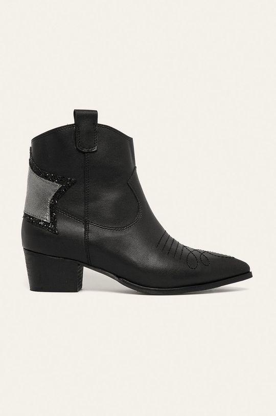 čierna Answear - Kovbojské topánky Dámsky