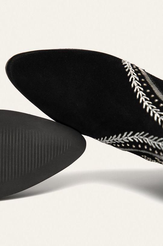 negru Answear - Botine de piele intoarsa