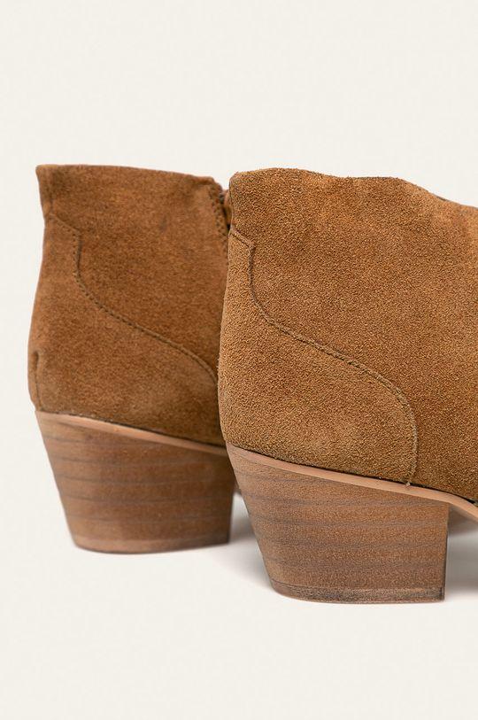 Answear - Botine de piele Gamba: Piele intoarsa Interiorul: Material sintetic, Material textil Talpa: Material sintetic