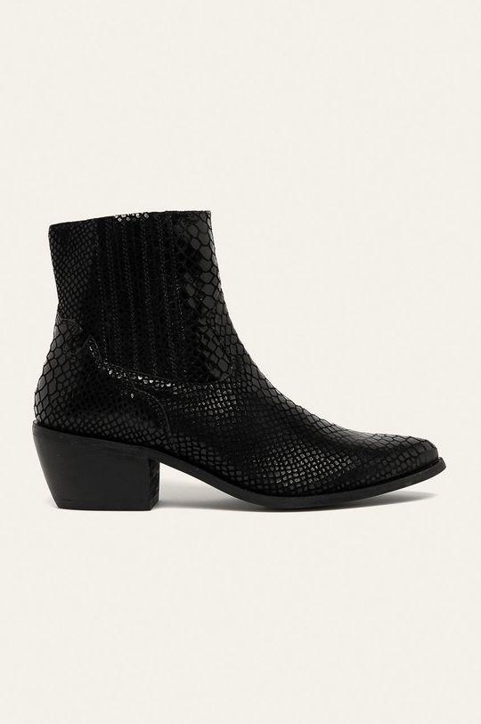 negru Answear - Botine de piele De femei