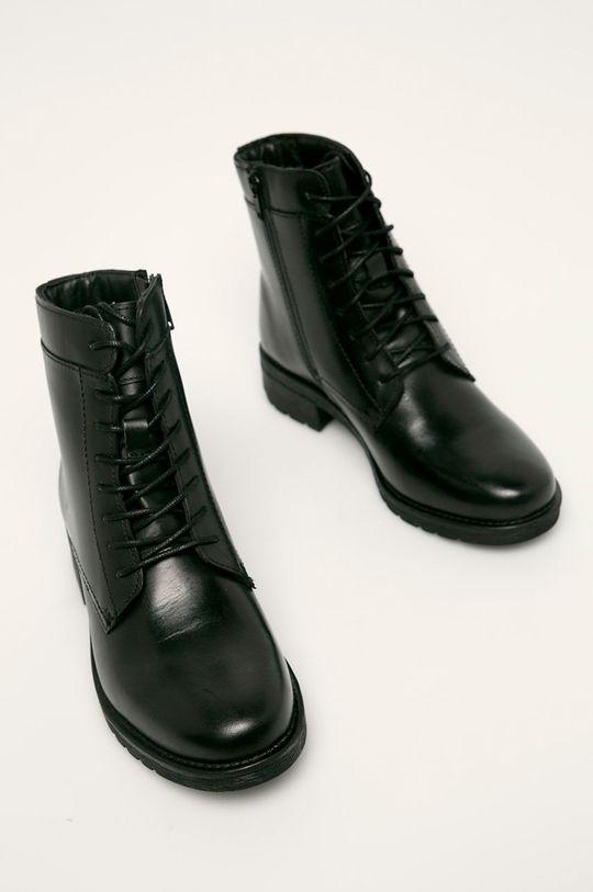 Answear - Botine de piele negru