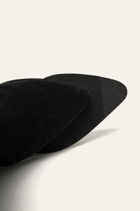 czarny Answear Lab - Kowbojki skórzane