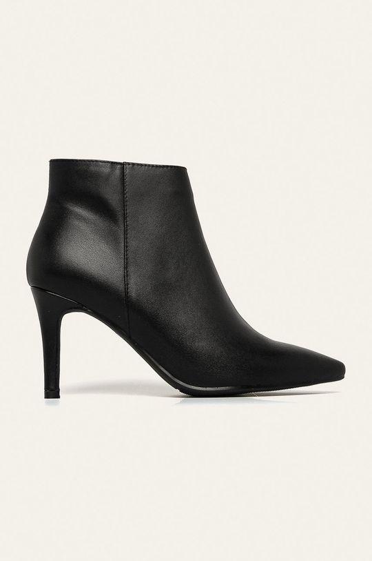 negru Answear - Cizme de piele De femei