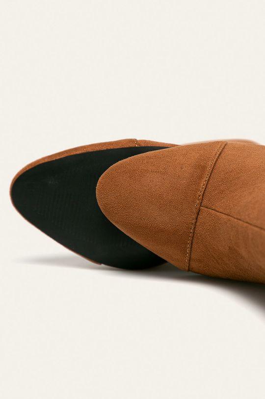 hnedá Answear - Členkové topánky