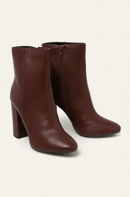 Answear - Členkové topánky gaštanová