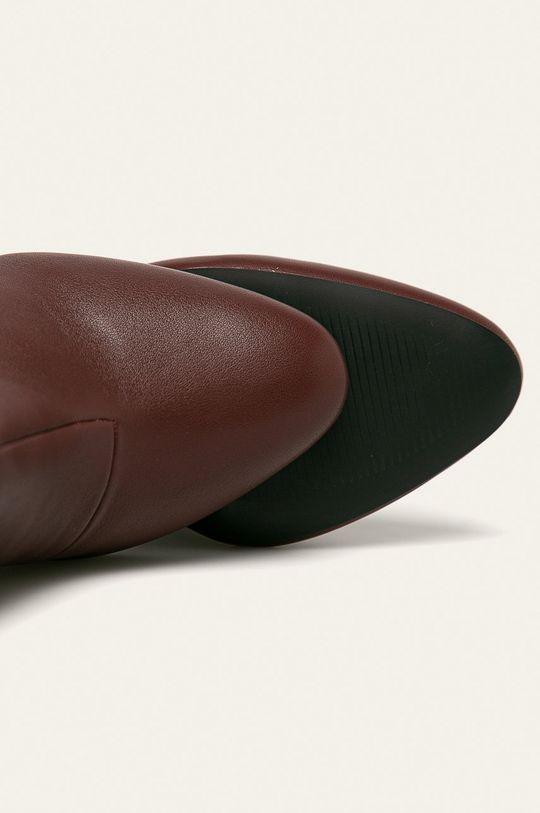 gaštanová Answear - Členkové topánky