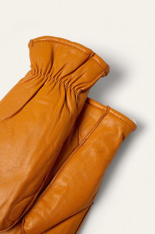 Answear Lab - Rękawiczki skórzane żółty