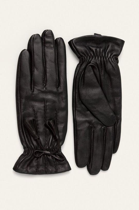 czarny Answear Lab - Rękawiczki skórzane Damski