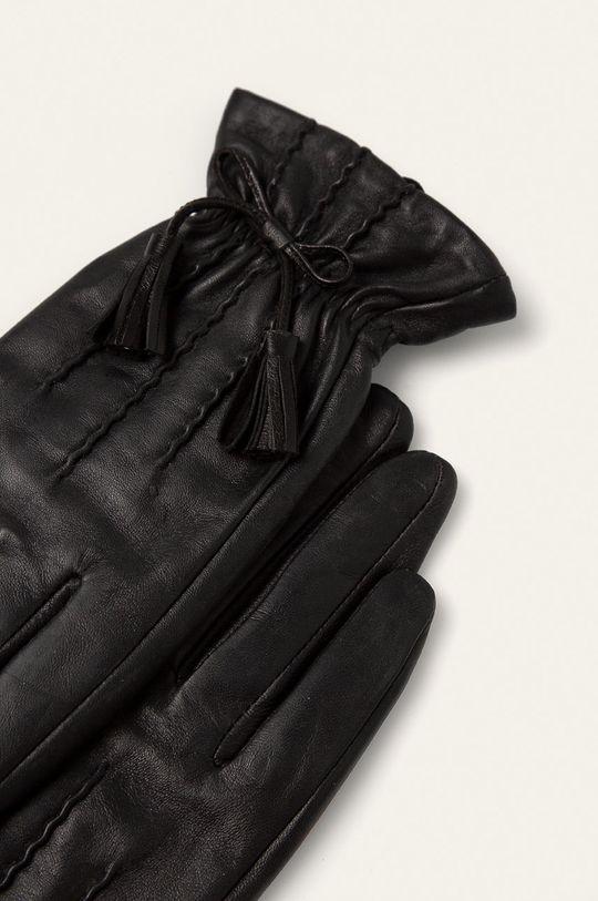 Answear Lab - Rękawiczki skórzane czarny