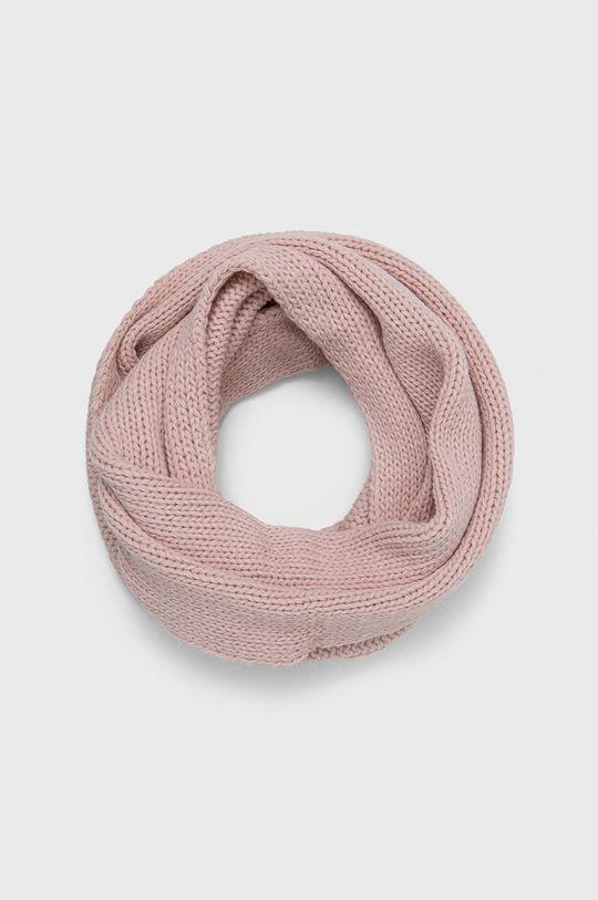 roz pastelat Answear - Fular impletit De femei