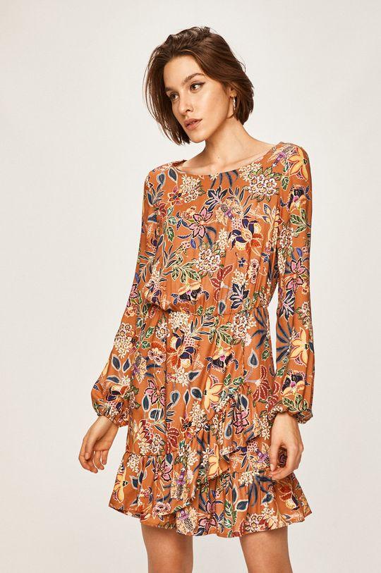 musztardowy Answear Lab - Sukienka