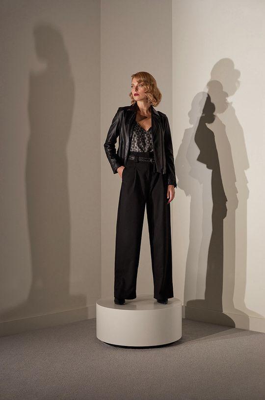 Answear.LAB limitovaná kolekcia - Kožená bunda čierna