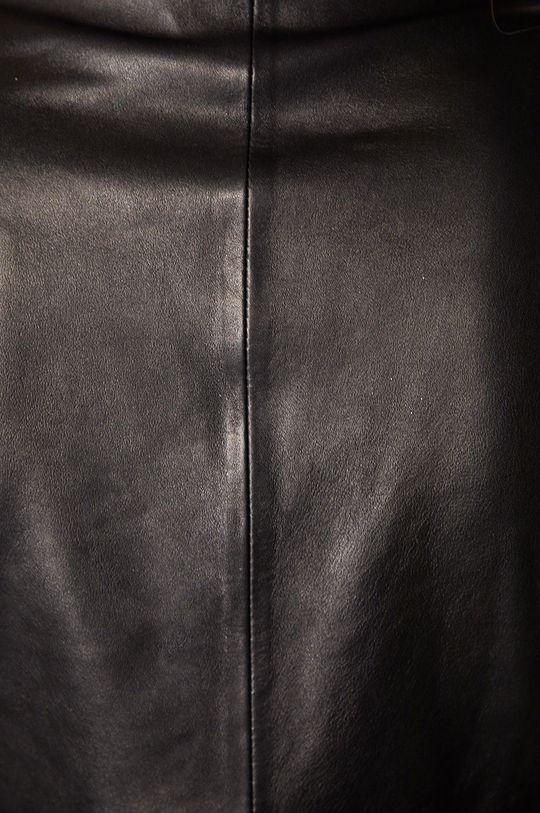 fekete Answear Lab - Bőrmellény