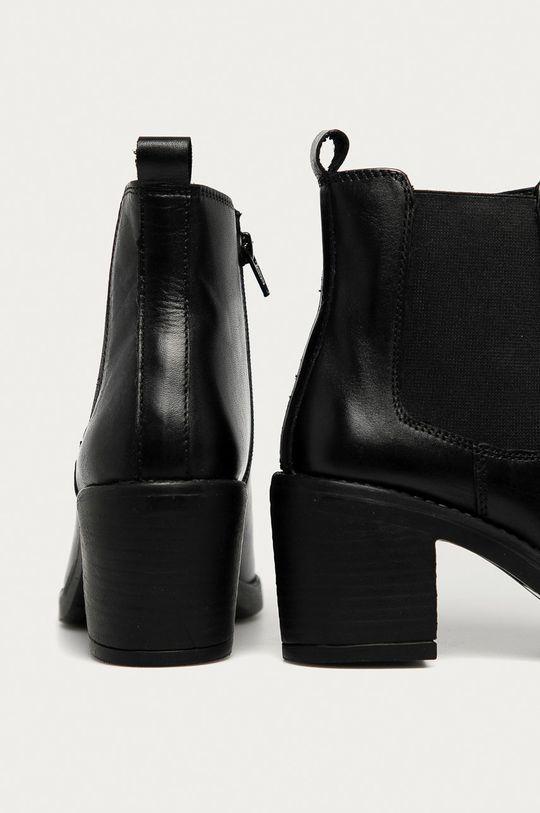 Answear - Kožené členkové topánky Answear Lab <p>  Zvršok: Prírodná koža  Vnútro: Syntetická látka, Textil  Podrážka: Syntetická látka</p>
