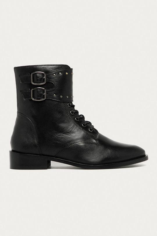 negru Answear - Bocanci de piele Answear Lab De femei