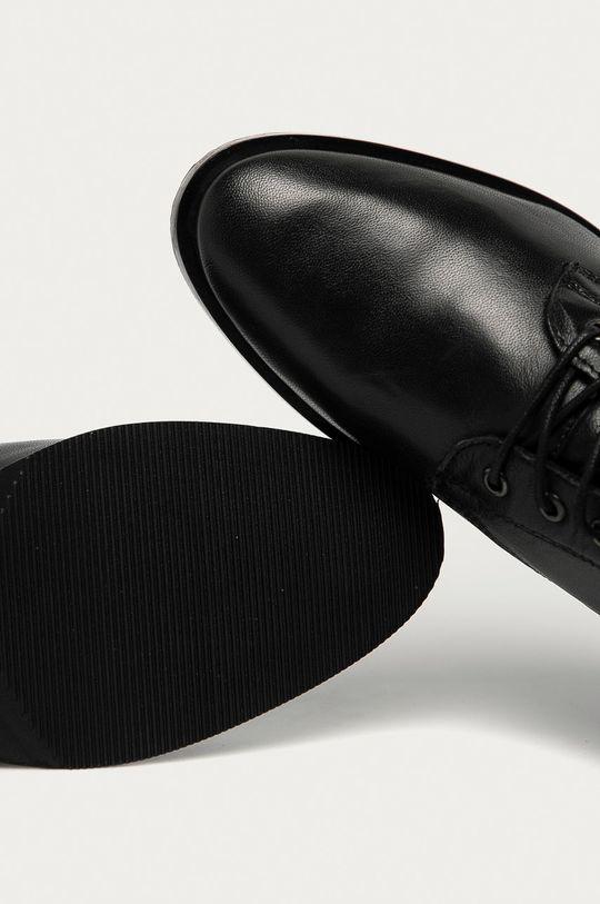 negru Answear - Bocanci de piele Answear Lab