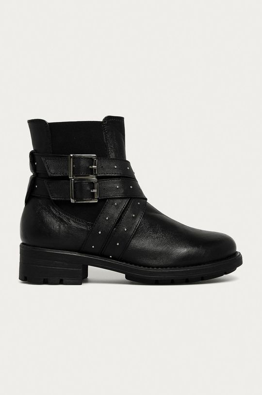 čierna Answear - Kožené členkové topánky Answear Lab Dámsky