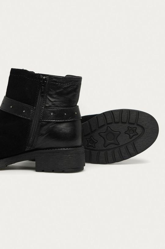 černá Answear - Kožené kotníkové boty Answear Lab
