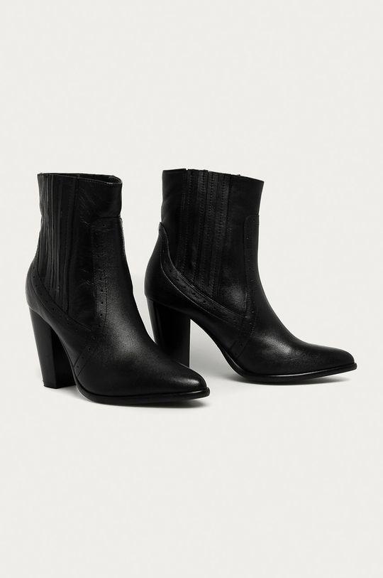 Answear - Kožené členkové topánky Answear Lab čierna