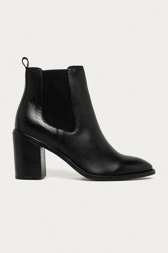 čierna Answear - Kožené topánky Chelsea Answear Lab Dámsky