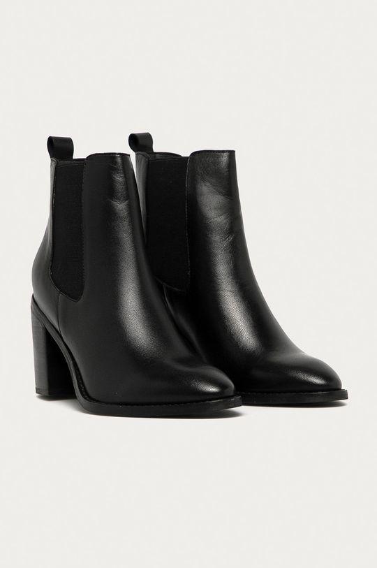 Answear - Kožené topánky Chelsea Answear Lab čierna