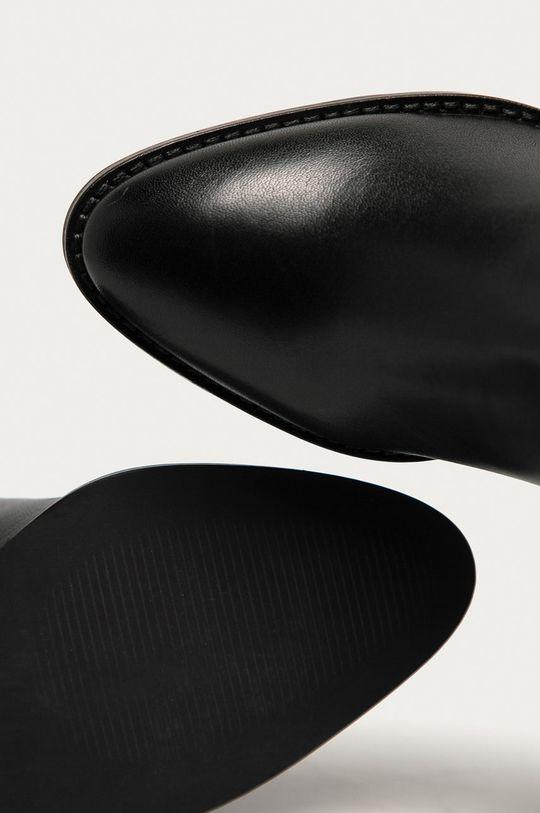 negru Answear - Ghete Chelsea de piele Answear Lab