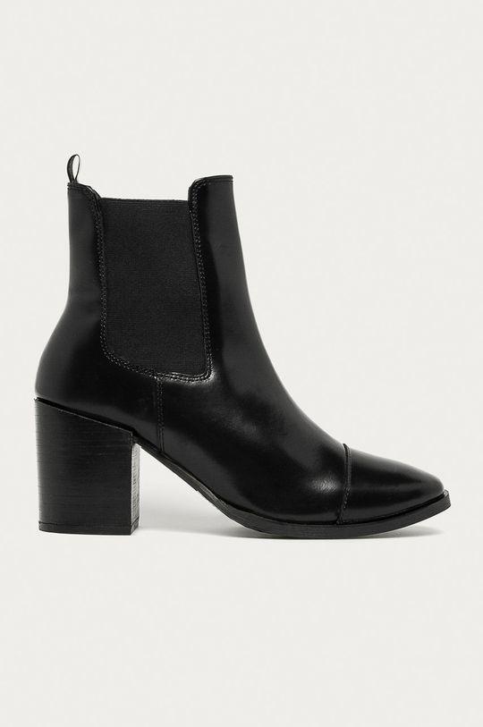 negru Answear - Ghete Chelsea de piele Answear Lab De femei