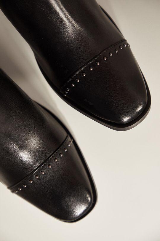 čierna Answear - Kožené členkové topánky Answeara Lab