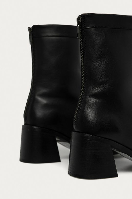 Answear - Kožené kotníkové boty Answear Lab černá