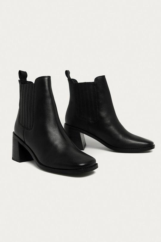 čierna Answear - Kožené členkové topánky Answear Lab