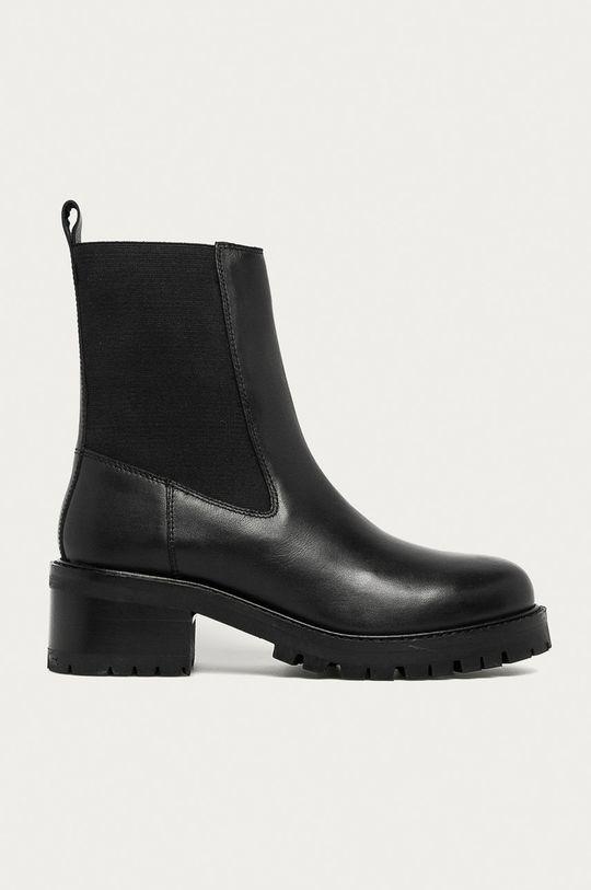 černá Answear - Kožené kotníkové boty Answear Lab Dámský