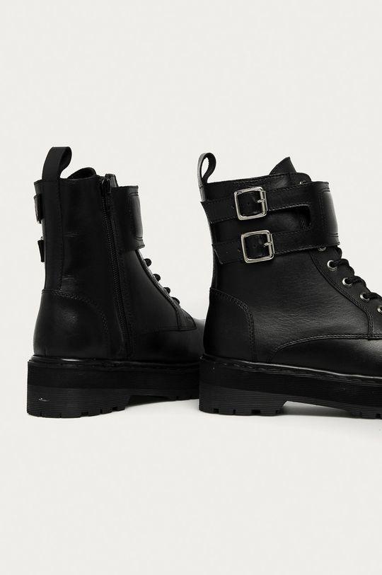 Answear.LAB limitovaná kolekcia - Kožené členkové topánky  Zvršok: Prírodná koža Vnútro: Textil, Prírodná koža Podrážka: Syntetická látka