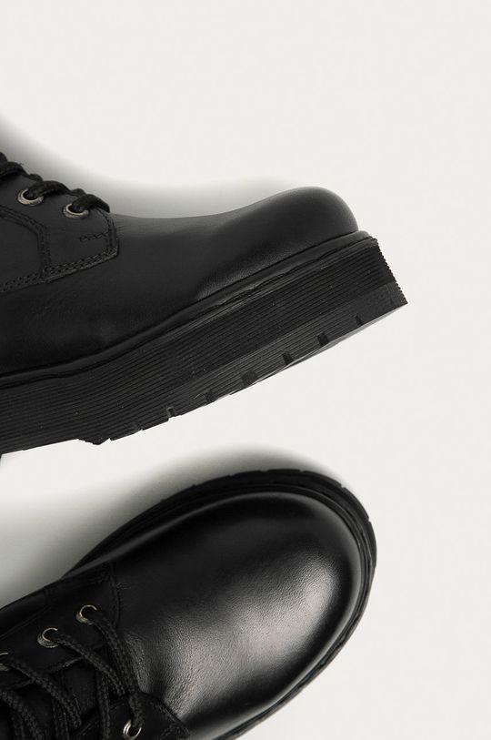 Answear.LAB limitovaná kolekcia - Kožené členkové topánky Dámsky