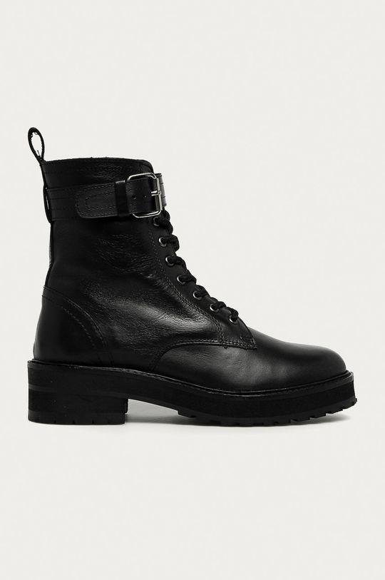 čierna Answear - Kožené workery Answear Lab Dámsky