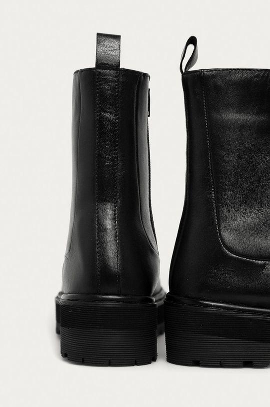 Answear Lab - Bőr csizma  Szár: természetes bőr Belseje: textil Talp: szintetikus anyag
